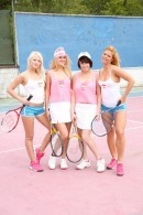 Joleyn Burst & Anabelle & Chrissy Fox & Katy E in Teen catfight at the tennis court gallery from CLUBSEVENTEEN
