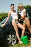 Josje B & Tiffany C - Two Naughty Carwash Babes