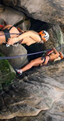 Sara J & Nessy & Ester B in Naked Mountain Climbing video from CLUBSEVENTEEN