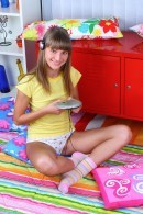 Cheerful Teen Toying Her Tight Pussy