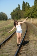 Peeing On A Railroad Track