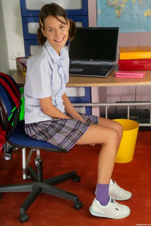 Lenka P In Innocent Schoolgirl Gets Naked For Clubseventeen-5534