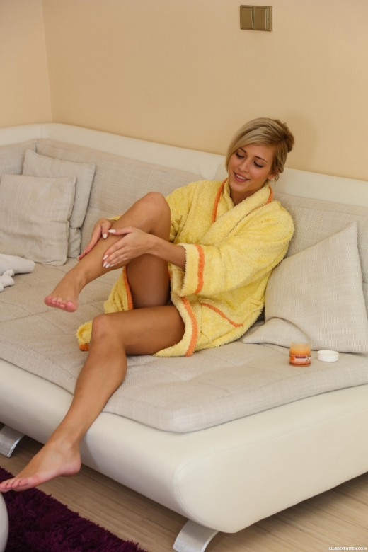 Ria Sunn in Ria Rubbing Herself On Her Couch gallery from CLUBSEVENTEEN