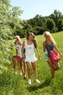 Sara J & Nessy & Sabrina L & Ester B - Naked Rollerblading Part 2
