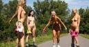Sara J & Sabrina L & Nessy & Ester B in Naked Rollerblading video from CLUBSEVENTEEN