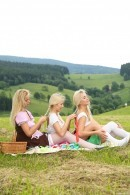 Cayla A & Nikki Dream & Karol Lilien in Orgasmic Picnic In Tirol gallery from CLUBSEVENTEEN