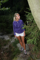 Sara J in Masturbating In The Woods gallery from CLUBSEVENTEEN