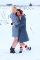 Lola F & Monica R in Innocent Teens Naked In The Snow gallery from CLUBSEVENTEEN