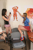 Rita E & Charlotte F & Barbara H & Angel Piaff & Miranda D - Teacher Overpowered By Slutty Students
