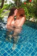 Girlfriends Having Fun In The Pool
