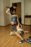 Lara H & Lussy A & Mea Melone & Charlotte G in Pizza Delivery Guy Overpowered By 4 Hot Teens gallery from CLUBSEVENTEEN