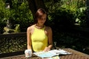 Heather Harris in Teen With Hard Nipples Masturbating In The Garden gallery from CLUBSEVENTEEN
