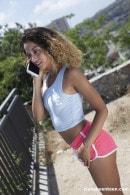 Latina Teen Rubs Her Pussy Outdoors