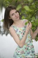Super Skinny Girl Getting Naked Outdoors