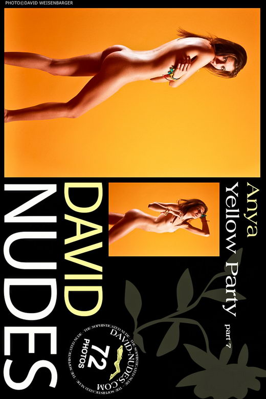 Anya - `Yellow Party part 7` - by David Weisenbarger for DAVID-NUDES