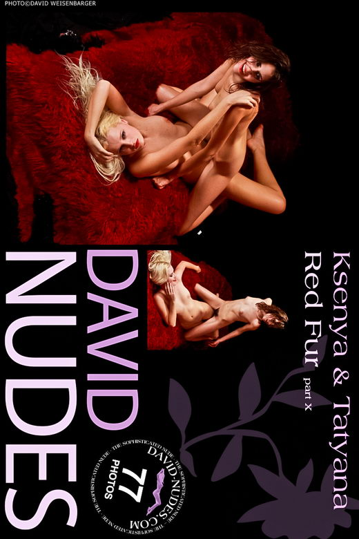 Ksenya & Tatyana - `Red Fur part X` - by David Weisenbarger for DAVID-NUDES