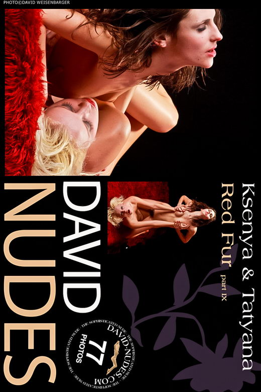 Ksenya & Tatyana - `Red Fur part IX` - by David Weisenbarger for DAVID-NUDES