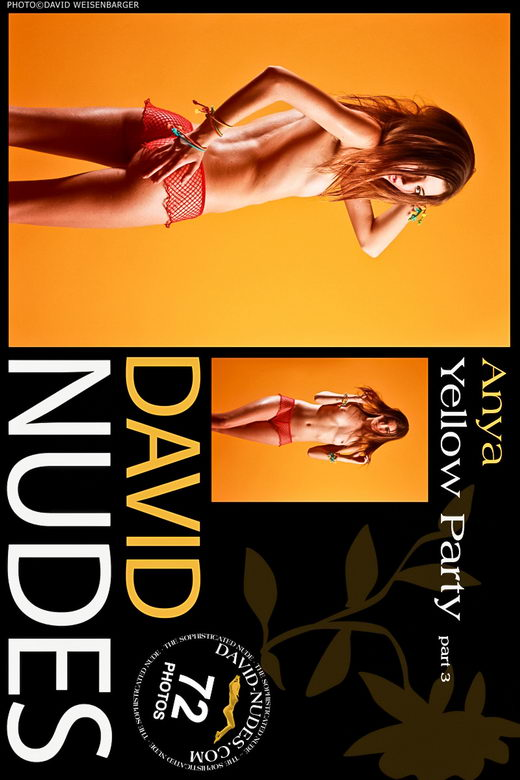 Anya - `Yellow Party part 3` - by David Weisenbarger for DAVID-NUDES
