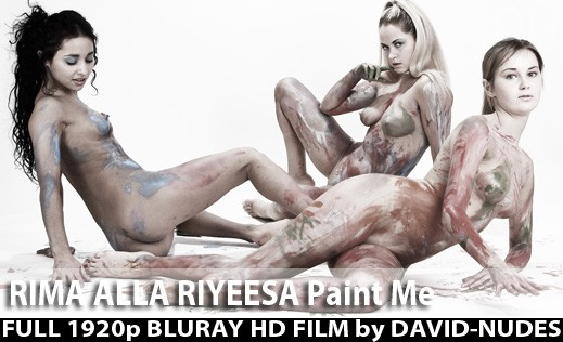 Rima & Riyeesa & Alla - `Paint Me` - by David Weisenbarger for DAVID-NUDES