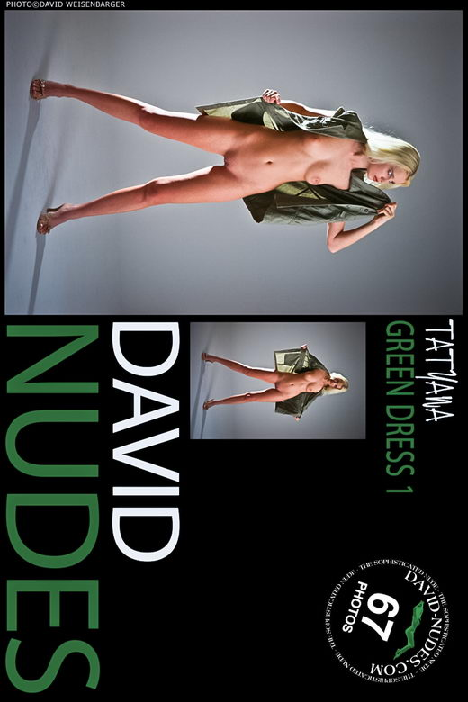 Tatyana - `Green Dress 1` - by David Weisenbarger for DAVID-NUDES
