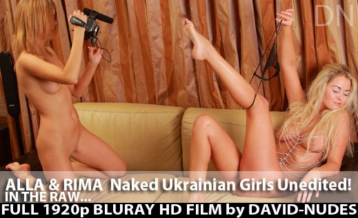 Alla & Rimma - `Naked Ukrainian Girls Unedited!` - by David Weisenbarger for DAVID-NUDES