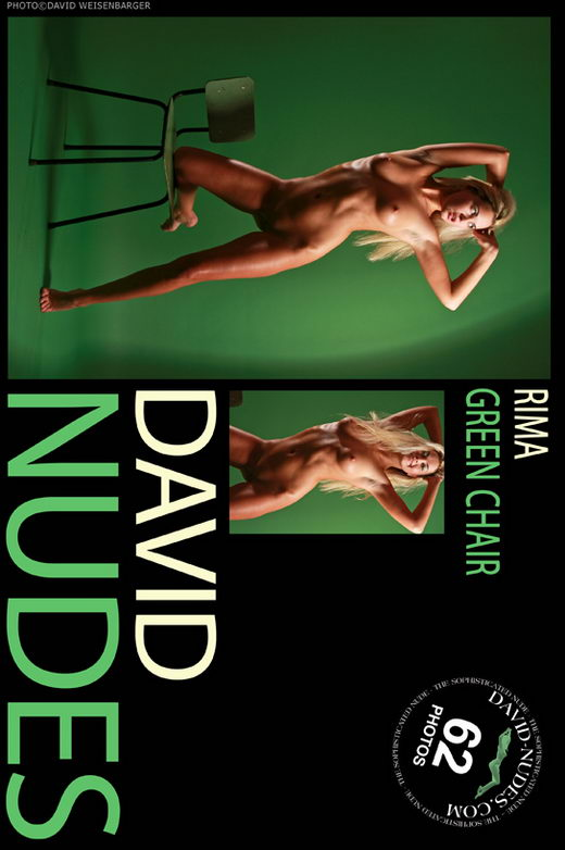 Rima - `Green Chair` - by David Weisenbarger for DAVID-NUDES