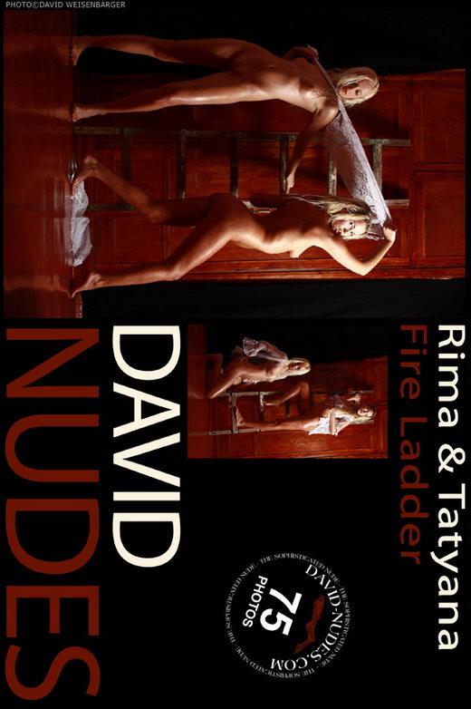 Rima & Tatyana - `Fire Ladder` - by David Weisenbarger for DAVID-NUDES