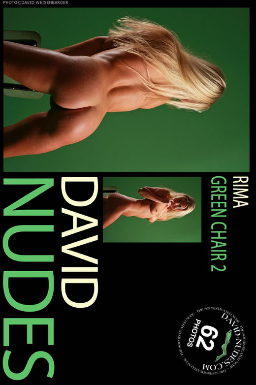 Rima - `Green Chair 2` - by David Weisenbarger for DAVID-NUDES