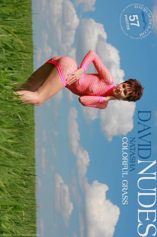 Natasha - `Colorful Grass` - by David Weisenbarger for DAVID-NUDES