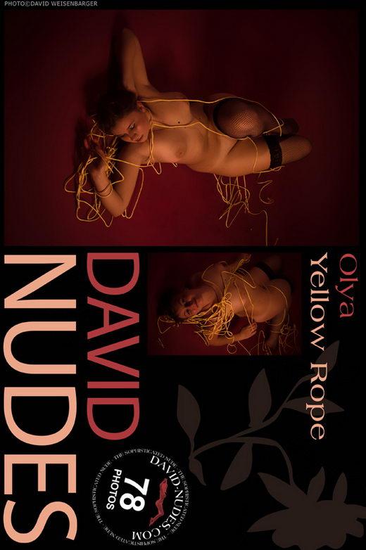 Olya - `Yellow Rope` - by David Weisenbarger for DAVID-NUDES
