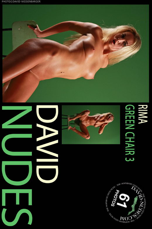 Rima - `Green Chair 3` - by David Weisenbarger for DAVID-NUDES
