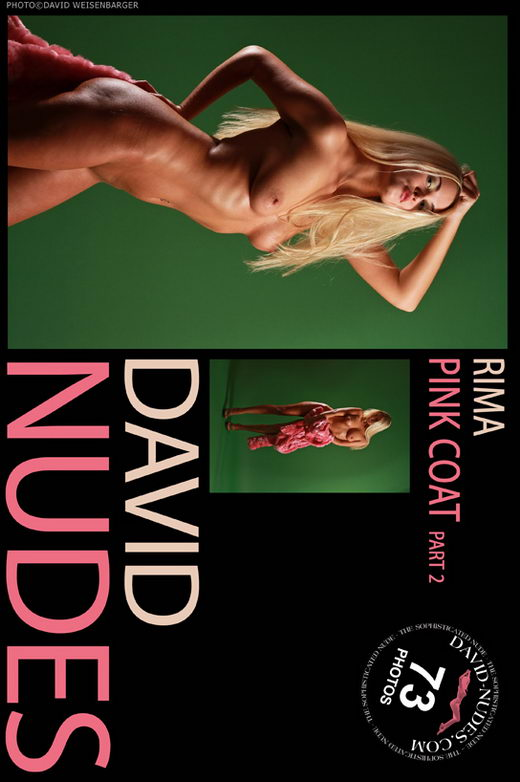 Rima - `Pink Coat part 2` - by David Weisenbarger for DAVID-NUDES