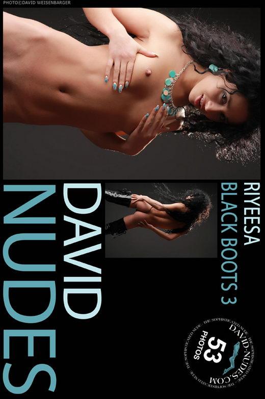 Riyeesa - `Black Boots 3` - by David Weisenbarger for DAVID-NUDES