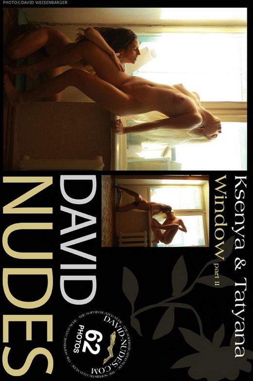 Ksenya & Tatyana - `Window part II` - by David Weisenbarger for DAVID-NUDES
