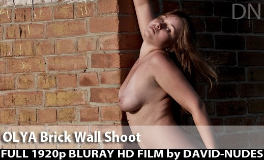 Olya - `Brick Wall Shoot` - by David Weisenbarger for DAVID-NUDES