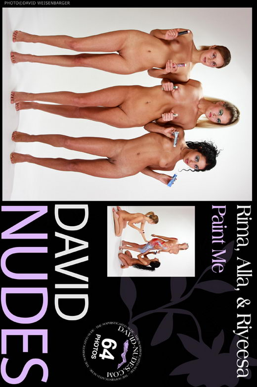 Rima & Alla & Riyeesa - `Paint Me` - by David Weisenbarger for DAVID-NUDES
