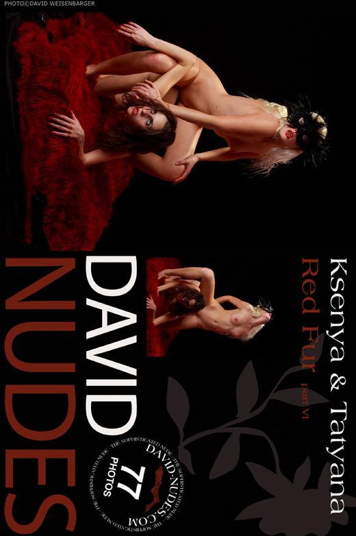 Ksenya & Tatyana - `Red Fur part VI` - by David Weisenbarger for DAVID-NUDES