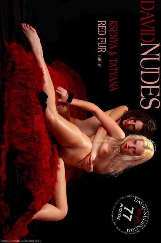 Ksenya & Tatyana - `Red Fur part IV` - by David Weisenbarger for DAVID-NUDES