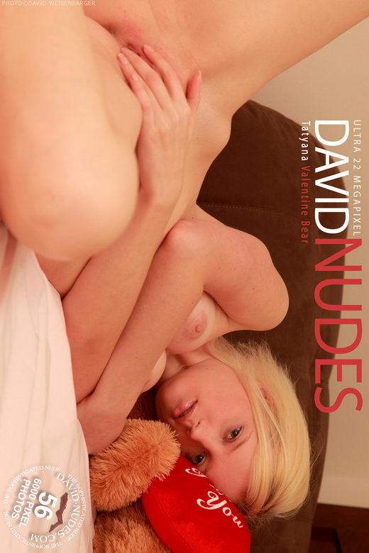 Tatyana - `Valentine Bear` - by David Weisenbarger for DAVID-NUDES