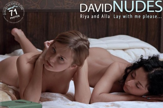 Riya & Alla - `Lay With Me Please ...` - by David Weisenbarger for DAVID-NUDES