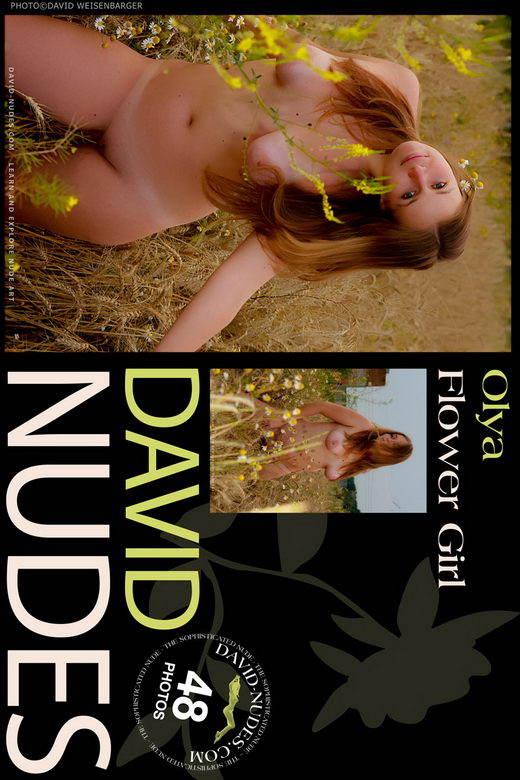 Olya - `Flower Girl` - by David Weisenbarger for DAVID-NUDES