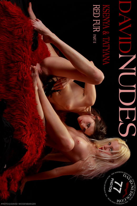 Ksenya & Tatyana - `Red Fur part II` - by David Weisenbarger for DAVID-NUDES