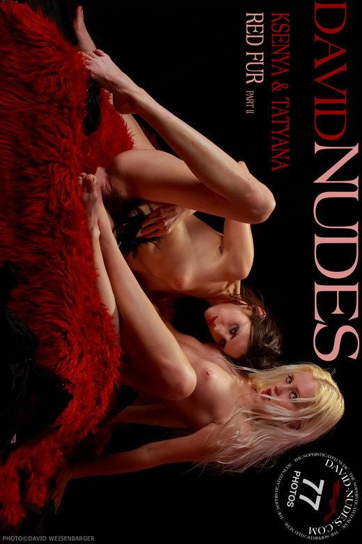 Ksenya & Tatyana - `Red Fur part II` - by David Weisenbarger for DAVID-NUDES