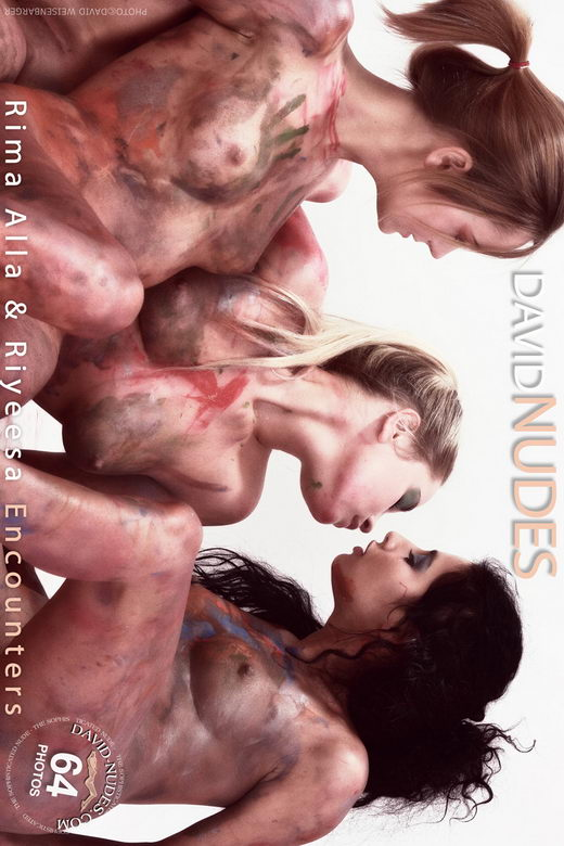 Rima & Alla & Riyeesa - `Encounters` - by David Weisenbarger for DAVID-NUDES