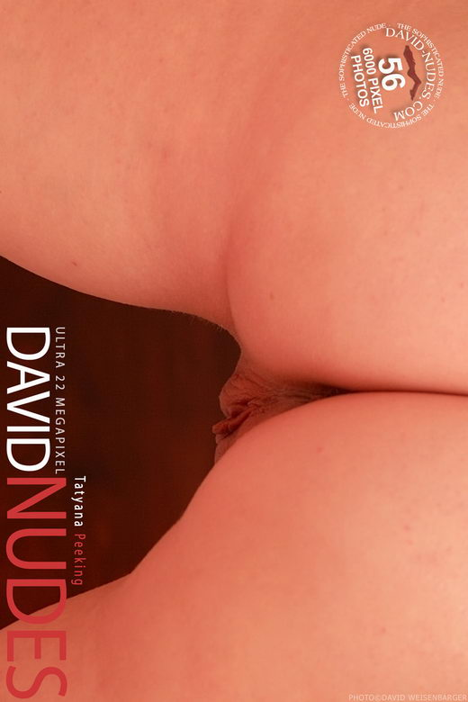 Tatyana - `Peeking` - by David Weisenbarger for DAVID-NUDES