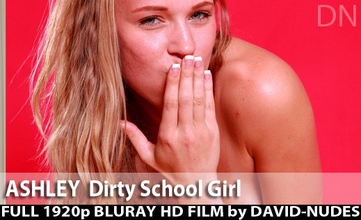Ashley - `Dirty School Girl` - by David Weisenbarger for DAVID-NUDES