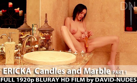 Ericka - `Candles And Marble - Part 1` - by David Weisenbarger for DAVID-NUDES
