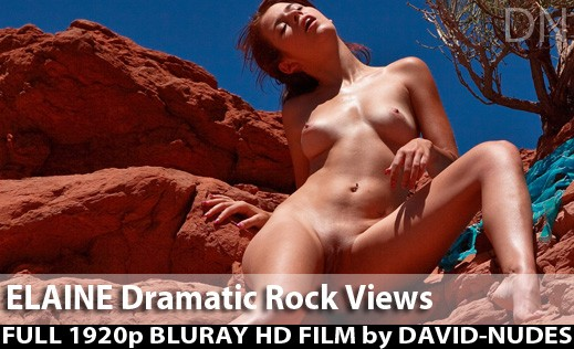 Elaine - `Dramatic Rock Views` - by David Weisenbarger for DAVID-NUDES