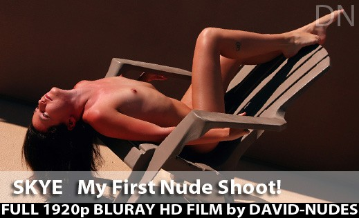 Skye - `My First Nude Shoot!` - by David Weisenbarger for DAVID-NUDES