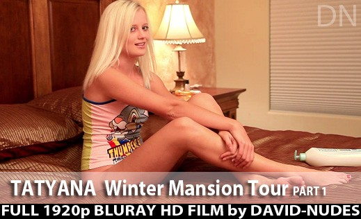 Tatyana - `Winter Mansion Tour - Part 1` - by David Weisenbarger for DAVID-NUDES